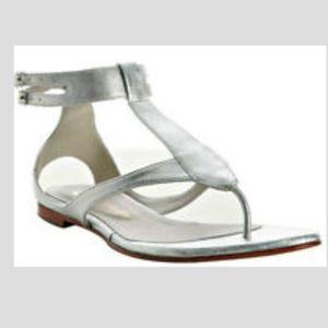 Boho Silver Leather Buckle sandal 8